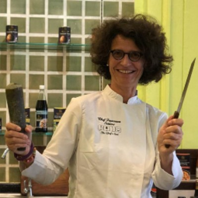 Francesca Settimi in The Blue Elephant restaurant and cooking school in Bangkok