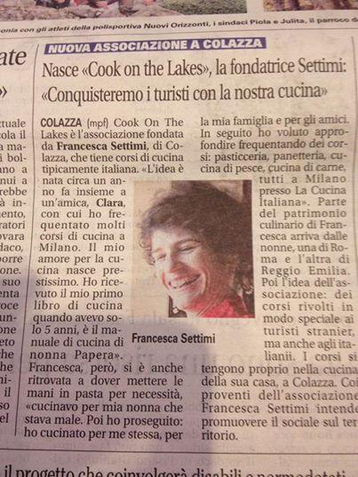 francesca settimi cook on the lakes il giornale di arona